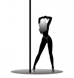 sexy stripper vector image