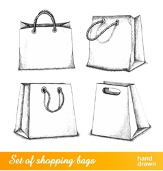 Bags for shopping set vector