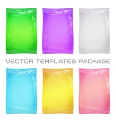 Package blank template vector