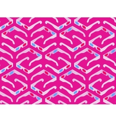Seamless pattern with isometric 3d stereo glasses vector