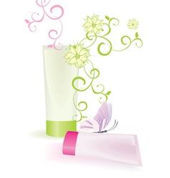 cream tubes vector image