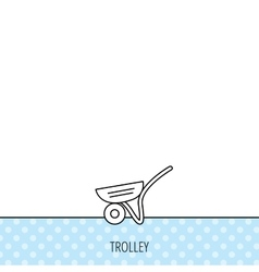 Trolley icon garden cart sign vector