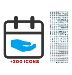 Donation date icon vector