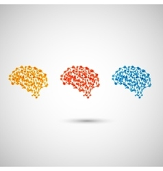 Abstract bright brains on a white background vector