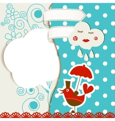baby card vector image