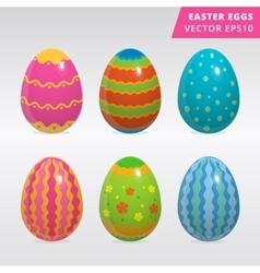 Vintage easter egg design set vector