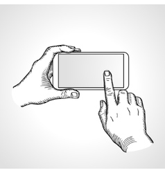 Mobile phone touch gestures vector