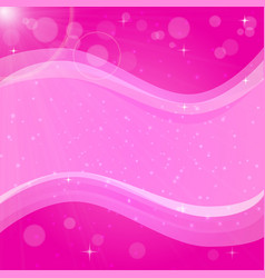 Abstract pink background with bokeh and flare vector