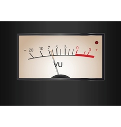 Analog VU Meter vector image vector image