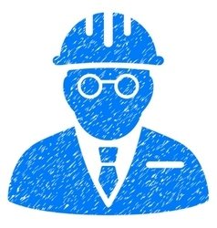 Blind engineer grainy texture icon vector