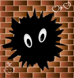 blob on a brick wall vector image