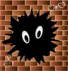blob on a brick wall vector image vector image