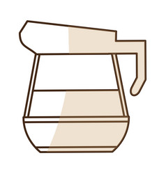 Brown silhouette shading glass jar of coffee with vector