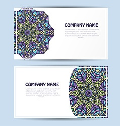 Business and invitation card with lace ornament vector image vector image