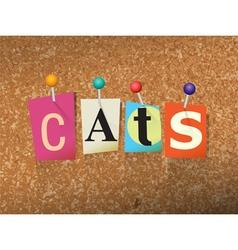 Cats concept vector