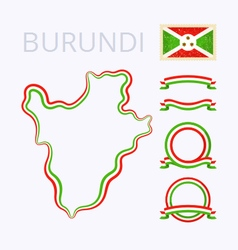 Colors of Burundi vector image vector image