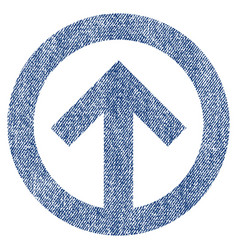 Direction up fabric textured icon vector