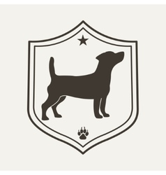 Dog pet logo vector