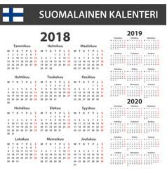 Finnish calendar for 2018 2019 2020 scheduler vector