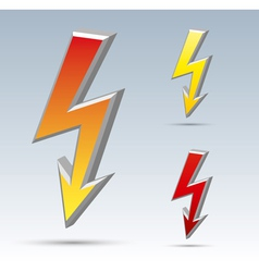 Flash arrow vector image