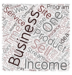 Income streams you can add to your business and vector