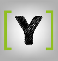 letter y sign design template element vector image vector image