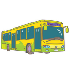 Low-floor city bus vector