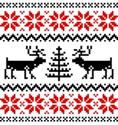 Nordic pattern vector image vector image
