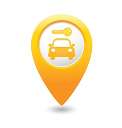 Parking symbol map pointer yellow vector