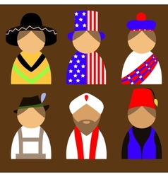 People in nationail costumes vector image