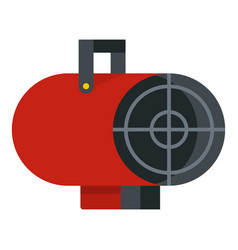 Red industrial electric fan heater icon isolated vector