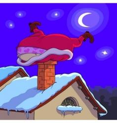 Santa Claus in trouble vector image vector image