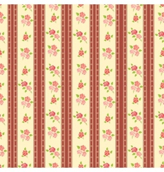 Seamless retro background with roses vector image