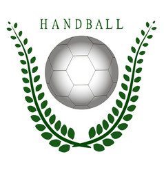 The theme handball vector