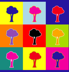 Tree sign pop-art style vector