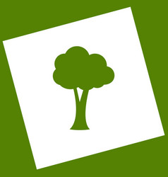 tree sign white icon vector image