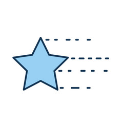 universe star isolated icon vector image vector image