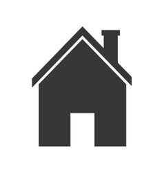 home house silhouette icon graphic vector image