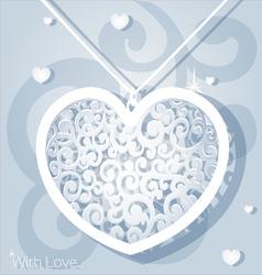 Openwork heart applique paper vector image
