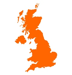 Map of united kingdom vector