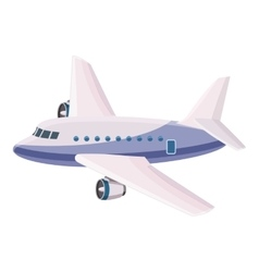 Passenger airliner icon cartoon style vector