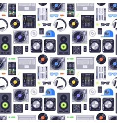 Music concept seamless pattern vector