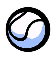 A baseball vector image