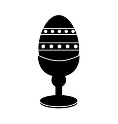 Easter egg wooden base decorative pictogram vector
