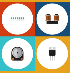 Flat icon appliance set of memory hdd receiver vector