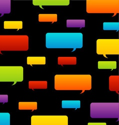 Colorful speech bubble background vector