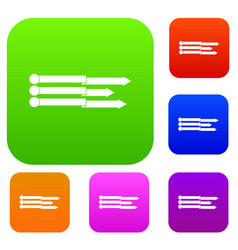 infographic arrows set collection vector image