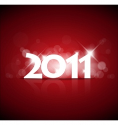 2011 new year card vector image vector image