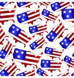Usa colors map shape celebration seamless pattern vector