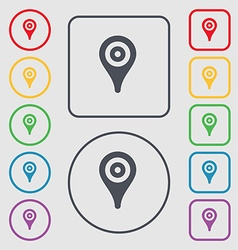 Map pointer gps location icon sign symbol on the vector